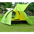 3-4 Personen Double-Layer Wasserdichtes Camping Rucksack Wandern Zelt