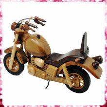 Modelo clássico de moto de madeira para venda