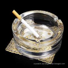 Großhandel Runde Glas Kristall Zigarre Aschenbecher für Heimtextilien