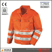 Men High Visibility Jacket Hivis Workwear with 3m Reflective Tape