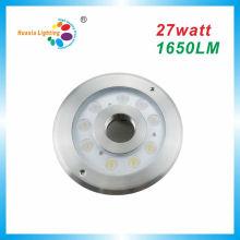 Luz de la fuente del poder más elevado IP68 LED de 27W, luz subacuática