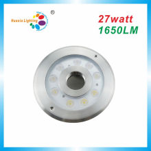 Luz da fonte do diodo emissor de luz do poder superior IP68 27W, luz subaquática