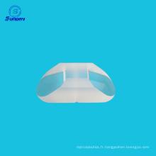 Prisme d'angle optique de 60 degrés avec revêtement en aluminium