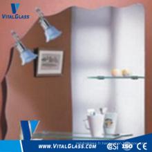 Miroir décoratif transparent / rose pour miroir de salle de bain