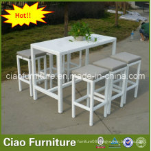 Elegant Cozy Furniture White Rattan Bar Furniture