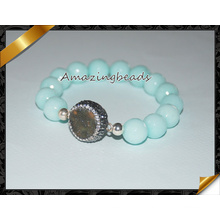 Pedras naturais pulseiras, pulseira quente dos homens da venda (CB015)