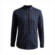 OEM 2015 Chemises imprimantes à carreaux 100% coton à manches longues pour hommes