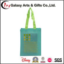 Venta caliente impresión personalizada moda lujo PP no tejida bolsa de compras