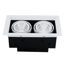 Aluminum Double Head Lamp COB Led Grille Downlight