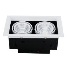 A ESPIGA principal dobro de alumínio da lâmpada conduziu a grade Downlight