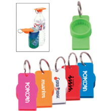 Promotional Can or Water Bottle Opener W/ Keychain