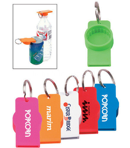 Promotional Can or Water Bottle Opener W Keychain