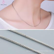 Лучшие продажи мода стерлингового серебра 925 делая машину цепи ожерелье для женщин