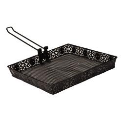 folding handle bbq grill top rack