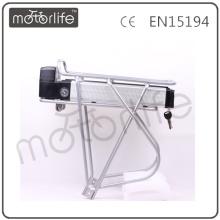 MOTORLIFE 36v 8ah 10ah traseiro rack de bateria ROHS