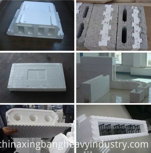 Expandable polystyrene machine applicaction in buidling