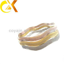 Joyería de acero inoxidable joyería valles con 3 colores arena explosión, brazalete de oro rosa