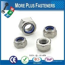 Fabricado en Taiwán DIN 985 A2 Acero inoxidable tipo T Tuerca de inserción de nylon