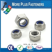 Made in Taiwan DIN 985 A2 Stainless Steel Type T Nylon Insert Nut