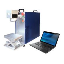 Machine à laser à marquage noir en acier inoxydable / Marquage laser couleur en plastique