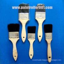 "1-4"" Bristle Wooden or Plastic Handle Paint Brush"