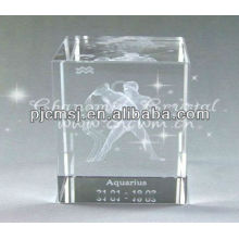 Handmade Engraved Laser Dancer Crystal For Home Decorations