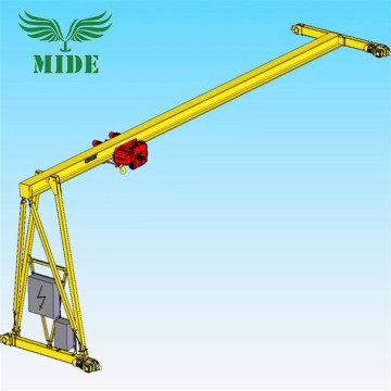 MHB semi gantry crane na may electric hoist