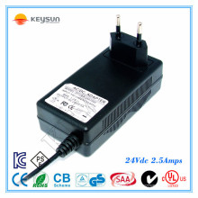 24v dc 2.5 amp switching power supply 24v 60w ac dc 24v 2.5a power adapter for led light With CE UL CUL SAA approved