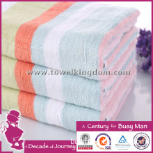 Bamboo Fiber Towel Colorful Striped Bath Towel