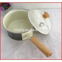 new customized enamel pot/sauce pan