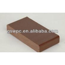Al aire libre medio ambiente wpc sólido decking / wpc suelo sólido