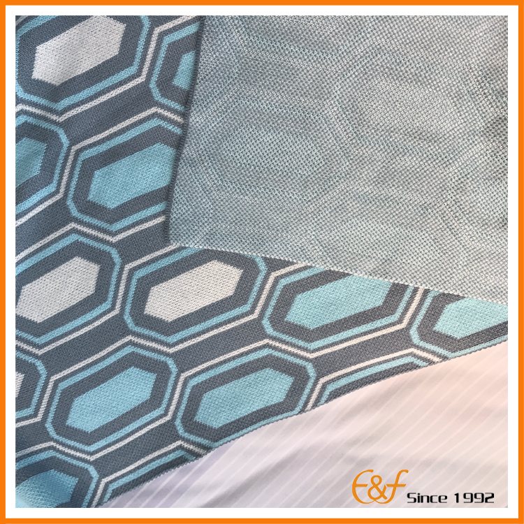 Modern geometric blanket fabric look