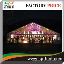 Clear Top Zelte perfekt für Abendveranstaltungen und Parties 20x40m