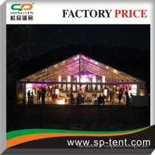Clear Top tendas perfeitas para eventos noturnos e festas 20x40m