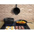 Camping cast iron cookware set