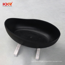 KKR artificial stone solid surface soaking bath freestanding bathtub