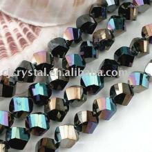 Perlas sueltas de cristal cortadas a máquina