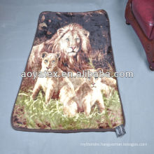 100% polyester raschel blanket