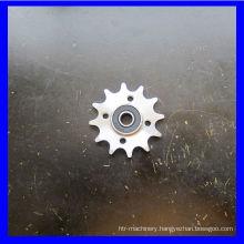 Zinked Steel Chain wheel with bearing(608)