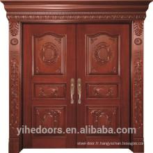 porte principale en bois de teck massif