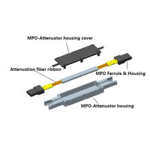 Atenuador de fibra óptica Sm MTP / MPO 10dB Ark