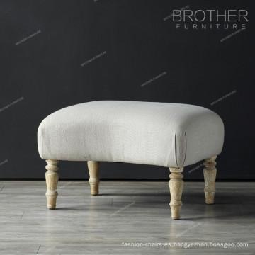Otomana de la sala de estar de la pierna de madera de la tela de lujo de gama alta