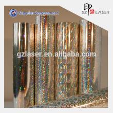 Hologramm bopp silbermetallisierte Folie mit Koronabehandlung
