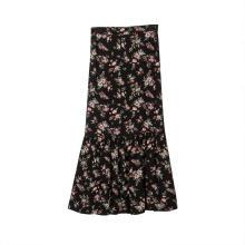 Womens High Waist Printed  Skirt Midi Maxi Swing  Skirt
