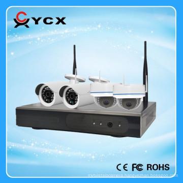 2016 Newest 100m WIFI IP Kit 4CH 720P Wireless NVR Kit OEM ODM manufacturer
