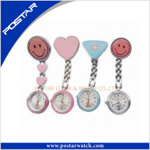 Wholesale Smile Face Nursing Pocket Watch with Japan Movement