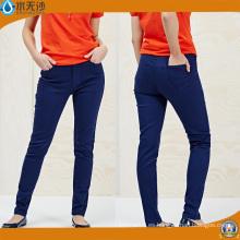Jeans ajustados de los nuevos vaqueros de las mujeres de los pantalones vaqueros azules de las mujeres de los pantalones vaqueros del OEM