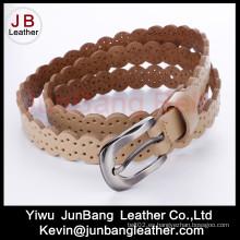 Fashion Punching PU cuero Jean cinturón para las mujeres