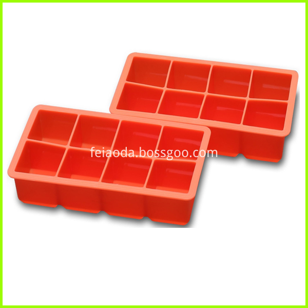 Colorful 8 Caves Custom Wholesale Ice Cube Tray