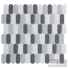 Light and Dark Gray Glass Mosaic Tile